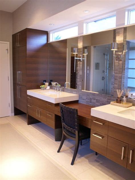 bathroom vanity with sit down area