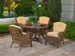 Resin Wicker Patio Furniture Sets 4pc Veranda Resin Wicker Outdoor Dining Set Patio Furniture Great Buy