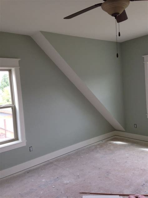 what is proper way to paint the slanted ceiling wall in a