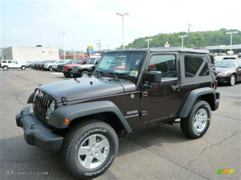 dark brown jeep 2013 rugged brown jeep wrangler sport s 4x4 81171117