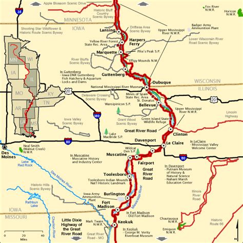 louisiana byways map great river road great river road in iowa america s byways