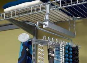 motorized tie rack for wire shelving sliding tie belt rack closetmaid