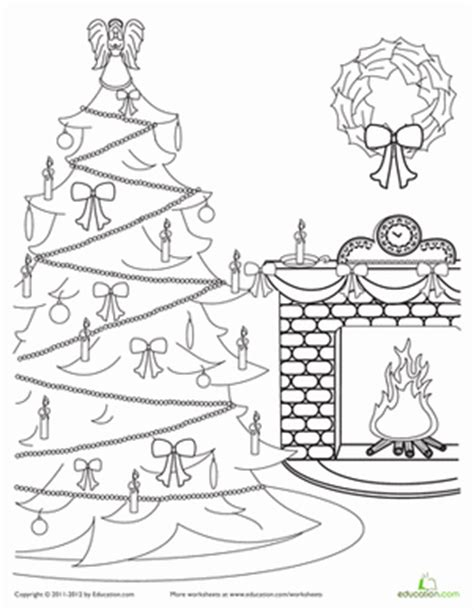 victorian christmas tree coloring page victorian christmas scene coloring page education com