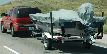 can you tow your boat with the cover on interstate trailering tips trailering boatus magazine