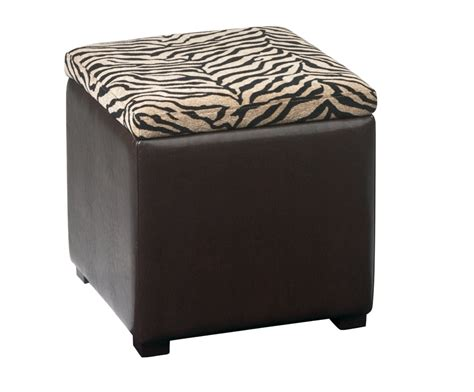 leather cube ottoman with tray avenue six detour storage cube ottoman with tray simba