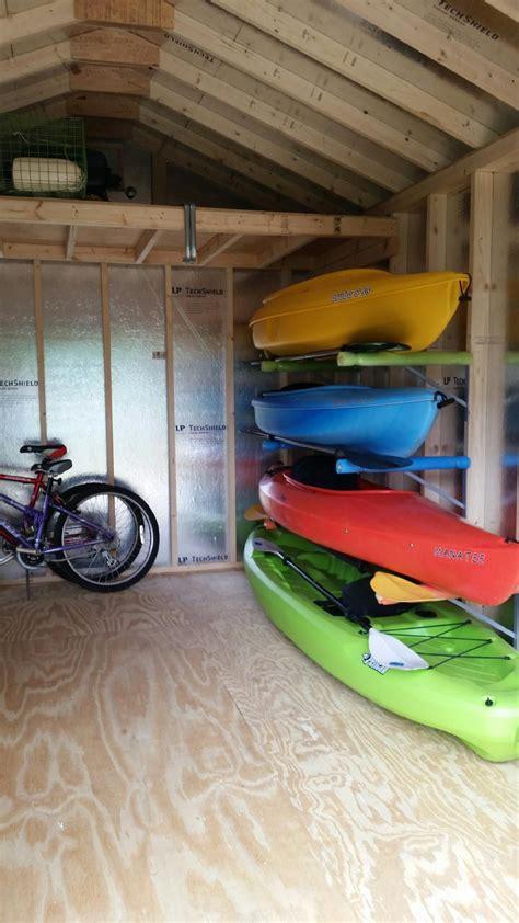 kayak storage kayak storage garage diy garage storage