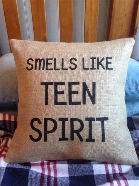 Pillow Smells Like You by Bedroom Smells Like Spirit Burlap Hessian Pillow