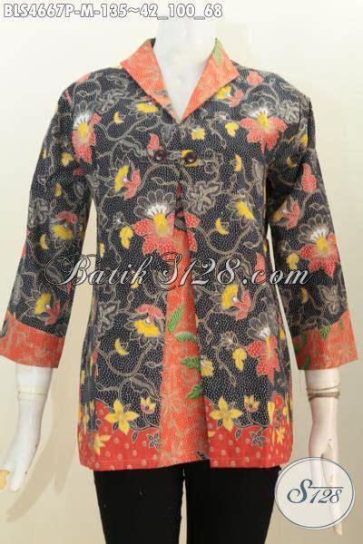 Blus Rok Batik Warna Kode Ba5281 blus batik motif bunga dua warna produk baju batik wanita