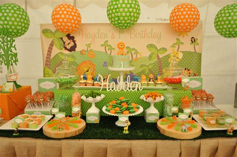 animal themed decorations my orange and green jungle animal themed dessert table i