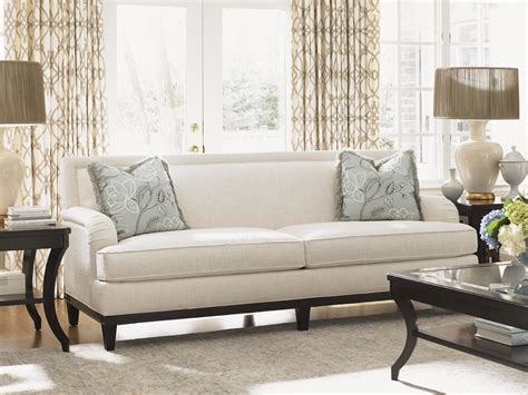 sofas for tall people exposed wood sofas loveseats and lexington kensington place transitional aubrey sofa with