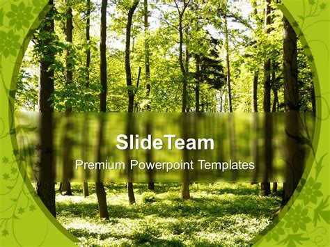 nature powerpoint templates free forest path way nature powerpoint templates ppt themes and