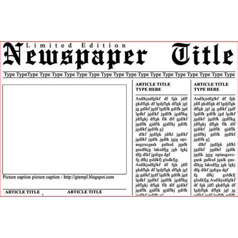 high school newspaper template best photos of school newspaper template free newspaper