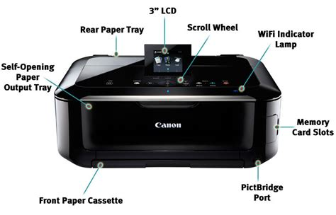 Printer Canon Pixma Mg5320 Inkjet Photo All In One canon 5291b003 pixma mg5320 wireless all in one inkjet printer black ca electronics