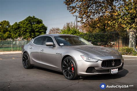 maserati ghibli grey black rims 20 quot lexani wheels css 15 gloss black with machine tips