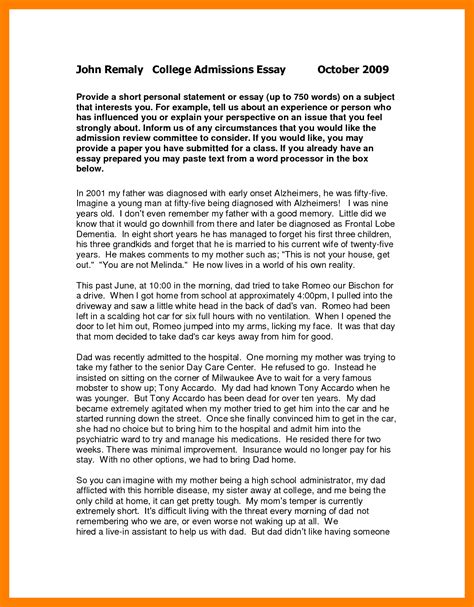 Essays For by 7 Personal Statement Resign Template
