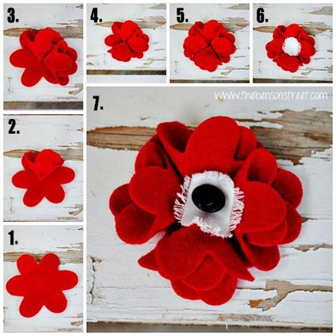 1 year memorial flowers memorial day felt poppy tutorial crafts i like poppies