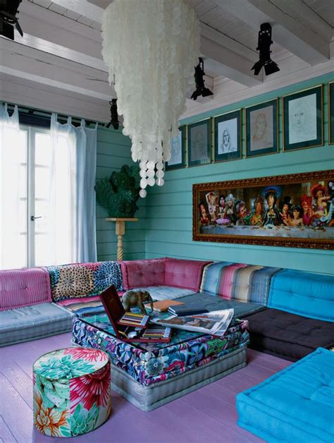 colourful boho chic living room living room decorating 34 analogous color scheme d 233 cor ideas to get inspired