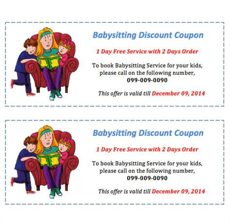 free printable gift certificates for babysitting free printable gift certificates for babysitting