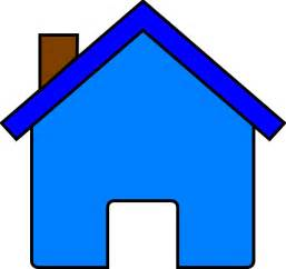 Home Clipart Blue House Clip At Clker Vector Clip Royalty Free Domain