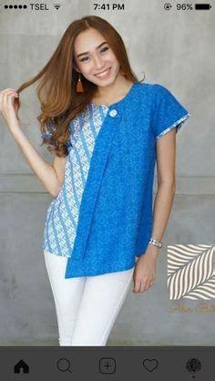 Kain Batik Kembang Kratonan Pri136 Bahan Katun Primisima batik kerja wanita blus batik cantik lengan panjang bahan batik katun primis kombinasi kain
