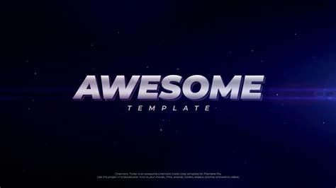 Cinematic Trailer Premiere Pro Templates 187 Free After Effects Templates After Effects Intro Temp Free After Effects Intro Templates