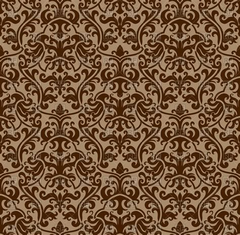 damask pattern background free seamless brown damask background royalty free vector clip