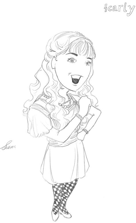 Icarly Coloring Pages Coloring Pages To Print Icarly Coloring Pages