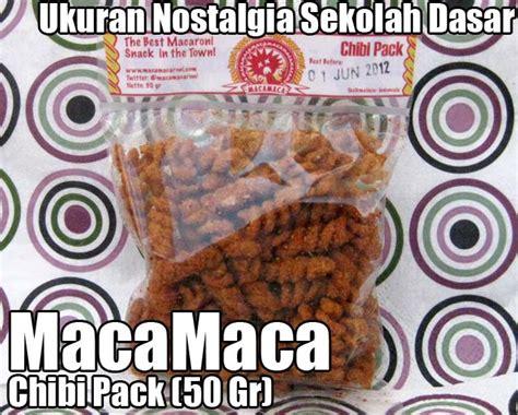 Macamaca Makaroni maca maca chibi pack macamaca snack makaroni goreng