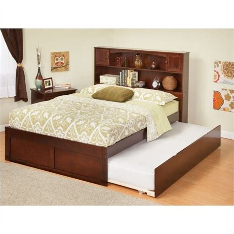 atlantic beds atlantic furniture newport bookcase bed with trundle in