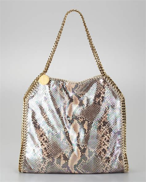Purse Deal Stella Mccartney Designer Tote by Stella Mccartney Baby Faux Python Tote Bag Lyst