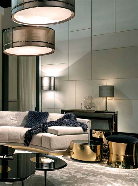 living room coffeehouse fendi casa collection panelling coffee and tables