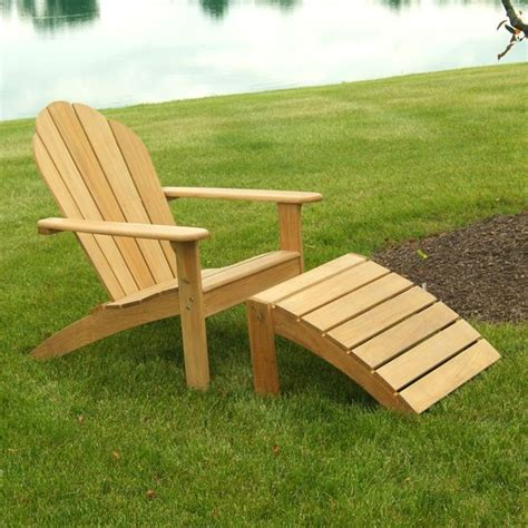 Adirondack Chair Ottoman Plans Hook Teak Adirondack Chair And Footstool 260 00 570 00 New Bambeco Products