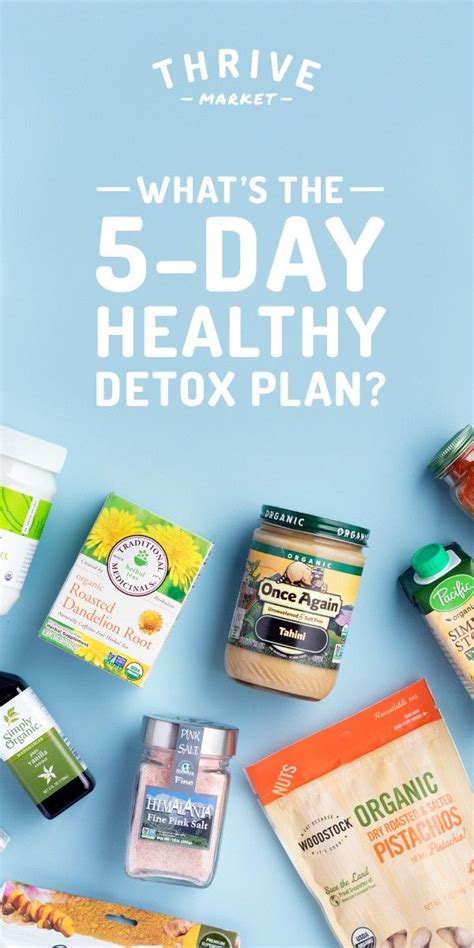Thrive Detox by Get Thrive Market S 5 Day Step By Step Detox Book For Free