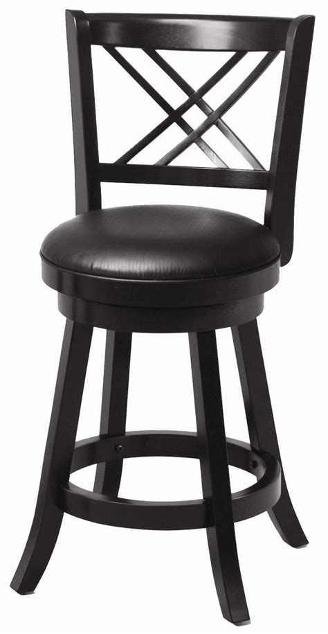 24 Inch Black Swivel Bar Stools by Set Of 2 Transitional Style Black Finish 24 Inch Bar Stools