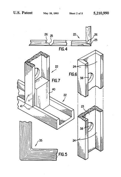 Sketches Channel by Patent Us5210990 C Channel Construction Member