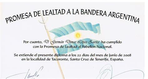 diploma jura de la bandera asociaci 243 n canario argentina mart 237 n fierro entrega de