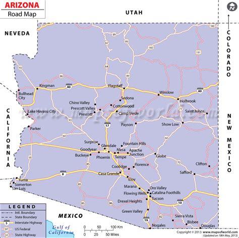 road maps of arizona arizona road map http www mapsofworld