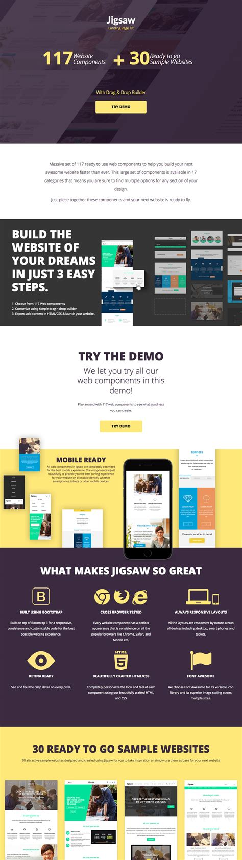 deal review template jigsaw landing page kit 71 one page template review