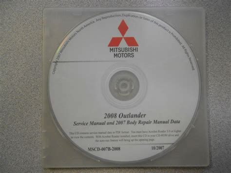 book repair manual 2004 mitsubishi outlander auto manual 2008 2007 mitsubishi outlander service repair manual cd brand new ebay