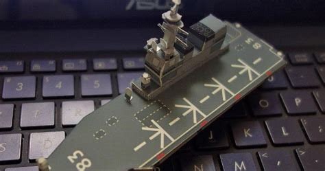 Hyuga Class Helicopter Destroyer Ship 11250 F Toys papermau izumo class helicopter destroyer paper model in