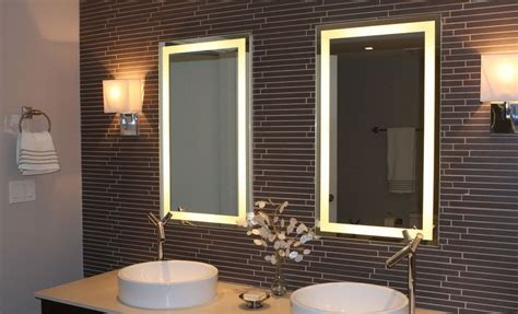 pick  modern bathroom mirror  lights