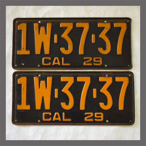 Vanity Plates For Sale 1929 california yom license plates for sale original