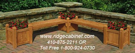 bench with flower box wood flower boxes planters bench seats trellis from ridge cabinet company