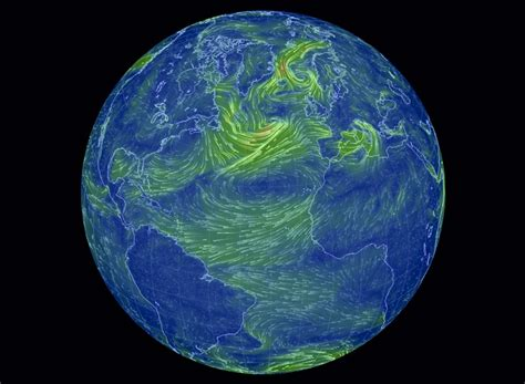 earth wind map amazing interactive map of wind geoawesomeness
