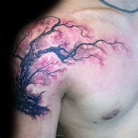 japanese cherry blossom tattoo on shoulder 100 cherry blossom tattoo designs for men floral ink ideas