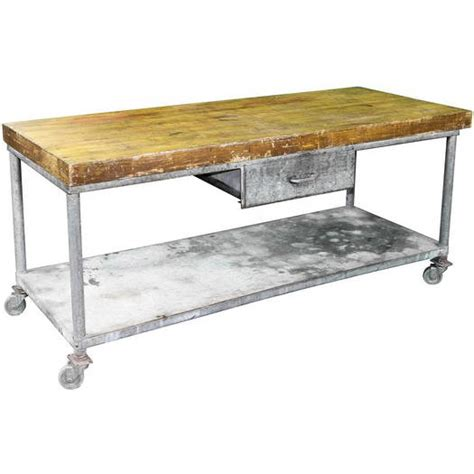 butcher block prep table butcher block prep table w 1 drawer air designs