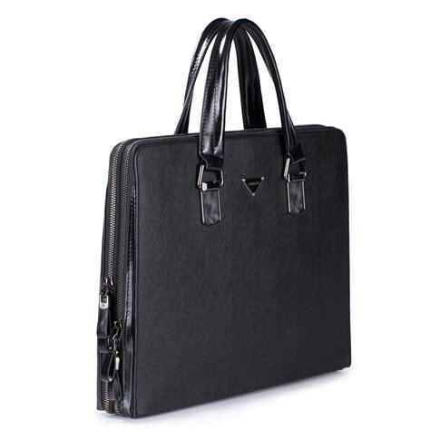 Bag Fashion Import Bos320687 Black sammons import cowhide fashion business tote handbag black