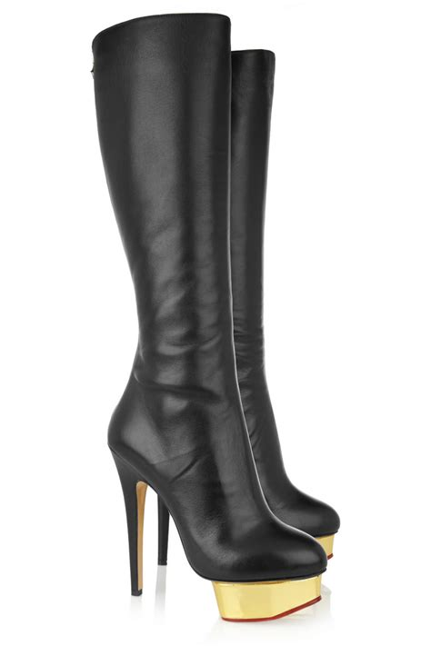 olympia bonnie leather platform knee boots in