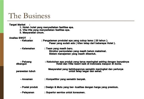 sle spa business plan
