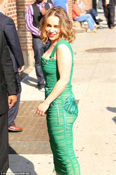 Branded Green Dress For And Size 7y Until 14y emilia clarke flaunts stunning figure at the late show with stephen colbert daily mail